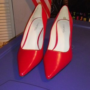 """Red Stiletto heeled """"Cockroach Killers"""""""